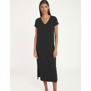 CUYANA Black Midi Dress